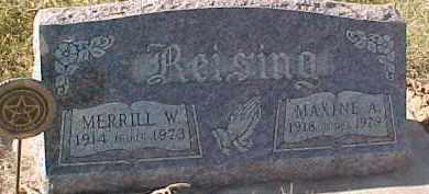 REISING, MAXINE A. - Dixon County, Nebraska   MAXINE A. REISING - Nebraska Gravestone Photos