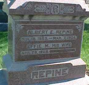 REPINE, ALBERT E. - Dixon County, Nebraska   ALBERT E. REPINE - Nebraska Gravestone Photos