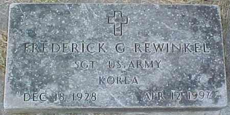 REWINKEL, FREDERICK G. (KOREA MARKER) - Dixon County, Nebraska   FREDERICK G. (KOREA MARKER) REWINKEL - Nebraska Gravestone Photos