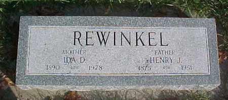 REWINKEL, IDA D. - Dixon County, Nebraska | IDA D. REWINKEL - Nebraska Gravestone Photos