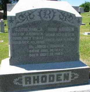 RHODEN, JOHN - Dixon County, Nebraska | JOHN RHODEN - Nebraska Gravestone Photos