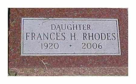 RHODES, FRANCES H. - Dixon County, Nebraska | FRANCES H. RHODES - Nebraska Gravestone Photos