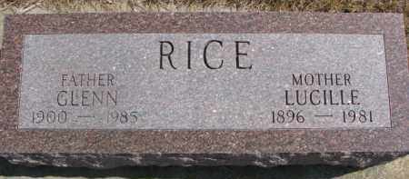 RICE, LUCILLE - Dixon County, Nebraska | LUCILLE RICE - Nebraska Gravestone Photos