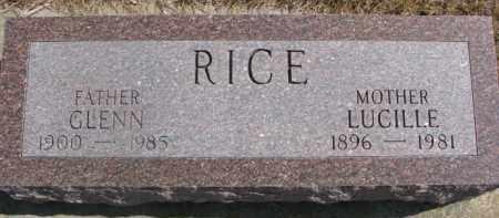 RICE, LUCILLE - Dixon County, Nebraska | LUCILLE RICE - Nebraska Gravestone Photos