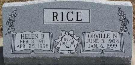 RICE, ORVILLE N. - Dixon County, Nebraska | ORVILLE N. RICE - Nebraska Gravestone Photos