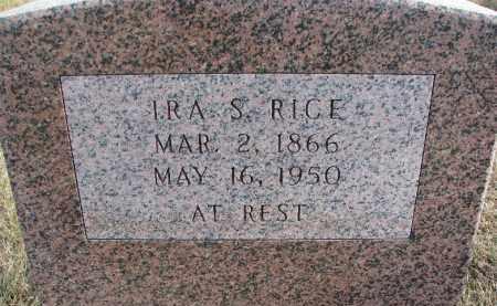 RICE, IRA S. - Dixon County, Nebraska | IRA S. RICE - Nebraska Gravestone Photos