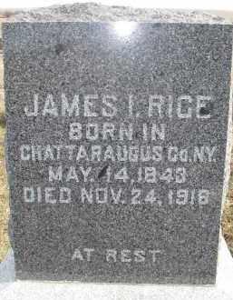 RICE, JAMES I. - Dixon County, Nebraska | JAMES I. RICE - Nebraska Gravestone Photos