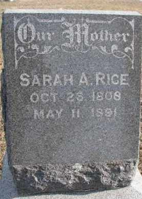 RICE, SARAH A. - Dixon County, Nebraska | SARAH A. RICE - Nebraska Gravestone Photos
