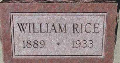 RICE, WILLIAM - Dixon County, Nebraska   WILLIAM RICE - Nebraska Gravestone Photos
