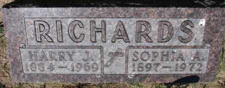 RICHARDS, SOPHIA A. - Dixon County, Nebraska | SOPHIA A. RICHARDS - Nebraska Gravestone Photos