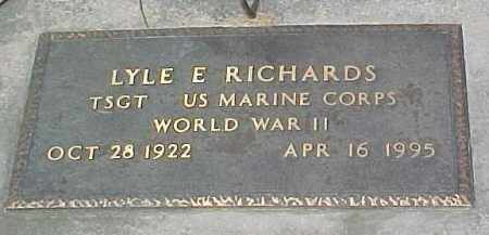 RICHARDS, LYLE US MARINE - Dixon County, Nebraska | LYLE US MARINE RICHARDS - Nebraska Gravestone Photos