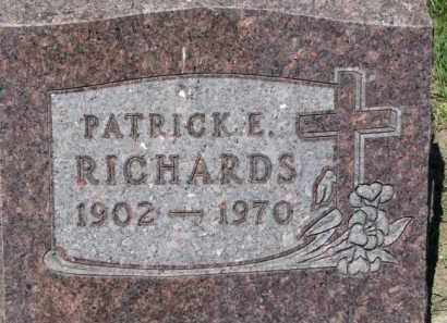 RICHARDS, PATRICK E. - Dixon County, Nebraska | PATRICK E. RICHARDS - Nebraska Gravestone Photos