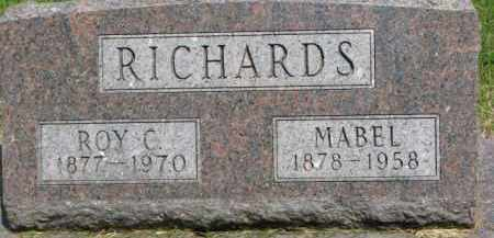 RICHARDS, ROY C. - Dixon County, Nebraska | ROY C. RICHARDS - Nebraska Gravestone Photos