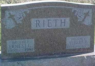 RIETH, ERNEST C. - Dixon County, Nebraska | ERNEST C. RIETH - Nebraska Gravestone Photos