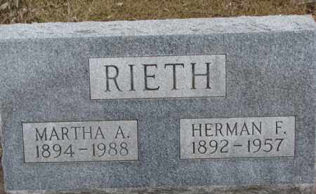 RIETH, HERMAN F. - Dixon County, Nebraska | HERMAN F. RIETH - Nebraska Gravestone Photos