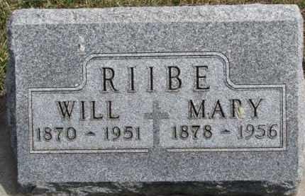 MANLEY RIIBE, MARY MAMIE - Dixon County, Nebraska | MARY MAMIE MANLEY RIIBE - Nebraska Gravestone Photos
