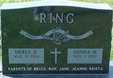 RING, MERLE D. - Dixon County, Nebraska | MERLE D. RING - Nebraska Gravestone Photos
