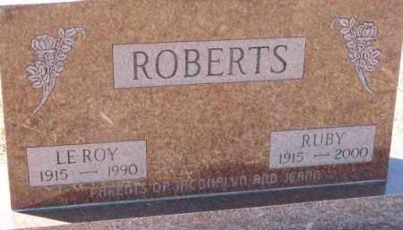 ROBERTS, RUBY - Dixon County, Nebraska | RUBY ROBERTS - Nebraska Gravestone Photos