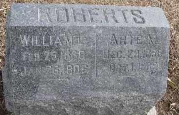 ROBERTS, ARTE M. - Dixon County, Nebraska   ARTE M. ROBERTS - Nebraska Gravestone Photos
