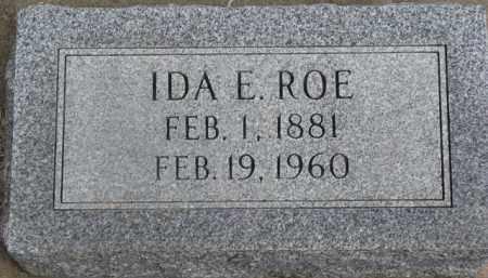 ROE, IDA E. - Dixon County, Nebraska | IDA E. ROE - Nebraska Gravestone Photos