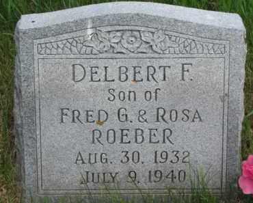 ROEBER, DELBERT F. - Dixon County, Nebraska | DELBERT F. ROEBER - Nebraska Gravestone Photos