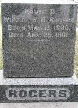 ROGERS, ARVIE D. - Dixon County, Nebraska | ARVIE D. ROGERS - Nebraska Gravestone Photos