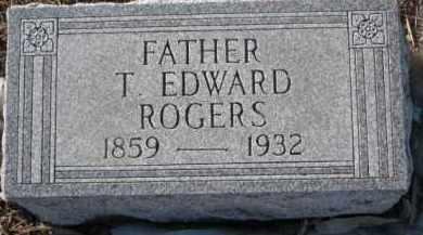ROGERS, T. EDWARD - Dixon County, Nebraska   T. EDWARD ROGERS - Nebraska Gravestone Photos