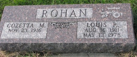 ROHAN, COZETTA - Dixon County, Nebraska | COZETTA ROHAN - Nebraska Gravestone Photos