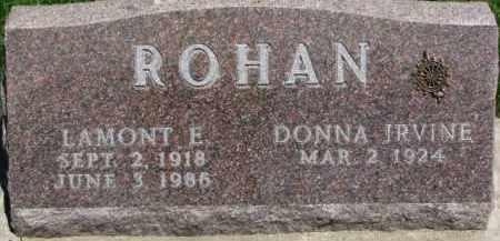 ROHAN, DONNA IRVINE - Dixon County, Nebraska | DONNA IRVINE ROHAN - Nebraska Gravestone Photos