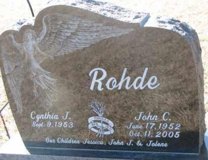 ROHDE, JOHN C. - Dixon County, Nebraska   JOHN C. ROHDE - Nebraska Gravestone Photos