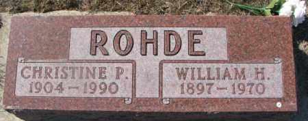 ROHDE, WILLIAM H. - Dixon County, Nebraska | WILLIAM H. ROHDE - Nebraska Gravestone Photos