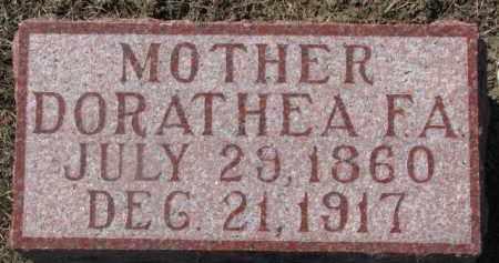 ROHDE, DORATHEA F.A. - Dixon County, Nebraska   DORATHEA F.A. ROHDE - Nebraska Gravestone Photos