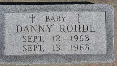 ROHDE, DANNY - Dixon County, Nebraska   DANNY ROHDE - Nebraska Gravestone Photos