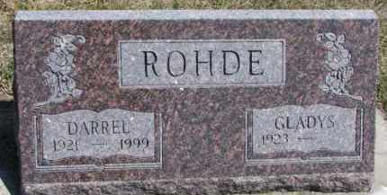 ROHDE, DARREL - Dixon County, Nebraska | DARREL ROHDE - Nebraska Gravestone Photos