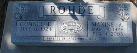 ROHDE, DONNEL E. - Dixon County, Nebraska | DONNEL E. ROHDE - Nebraska Gravestone Photos