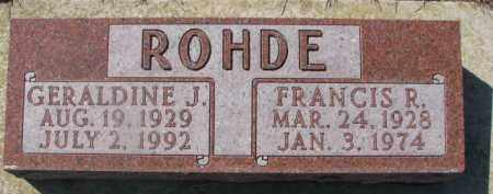 ROHDE, FRANCIS R. - Dixon County, Nebraska | FRANCIS R. ROHDE - Nebraska Gravestone Photos