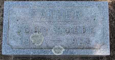 ROHDE, JOHN - Dixon County, Nebraska | JOHN ROHDE - Nebraska Gravestone Photos