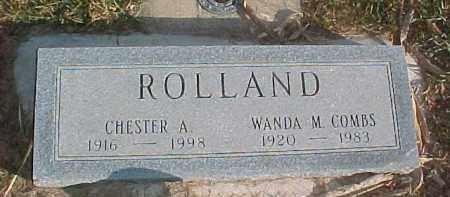 COMBS ROLLAND, WANDA M. - Dixon County, Nebraska | WANDA M. COMBS ROLLAND - Nebraska Gravestone Photos