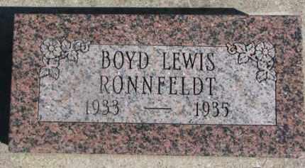 RONNFELDT, BOYD LEWIS - Dixon County, Nebraska | BOYD LEWIS RONNFELDT - Nebraska Gravestone Photos