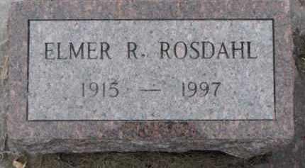 ROSDAHL, ELMER R. - Dixon County, Nebraska | ELMER R. ROSDAHL - Nebraska Gravestone Photos