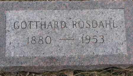 ROSDAHL, GOTTHARD - Dixon County, Nebraska   GOTTHARD ROSDAHL - Nebraska Gravestone Photos