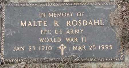 ROSDAHL, MALTE R. - Dixon County, Nebraska | MALTE R. ROSDAHL - Nebraska Gravestone Photos