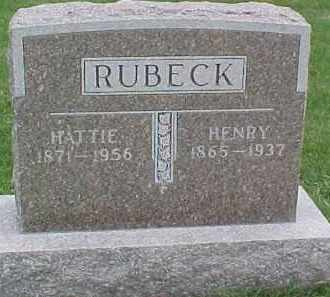 RUBECK, HENRY - Dixon County, Nebraska | HENRY RUBECK - Nebraska Gravestone Photos