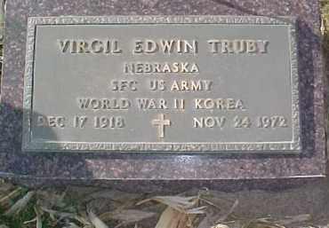 RUBY, VIRGIL (WW II-KOREA MARKER) - Dixon County, Nebraska | VIRGIL (WW II-KOREA MARKER) RUBY - Nebraska Gravestone Photos
