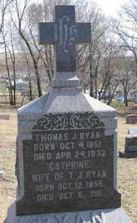 RYAN, CATHRINE - Dixon County, Nebraska | CATHRINE RYAN - Nebraska Gravestone Photos