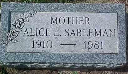 SABLEMAN, ALICE L. - Dixon County, Nebraska | ALICE L. SABLEMAN - Nebraska Gravestone Photos