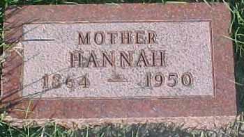 SACKERSON, HANNAH - Dixon County, Nebraska | HANNAH SACKERSON - Nebraska Gravestone Photos