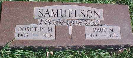 SAMUELSON, DOROTHY M. - Dixon County, Nebraska | DOROTHY M. SAMUELSON - Nebraska Gravestone Photos