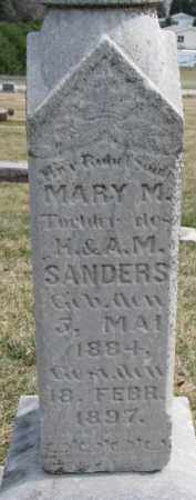 SANDERS, MARY M. - Dixon County, Nebraska | MARY M. SANDERS - Nebraska Gravestone Photos