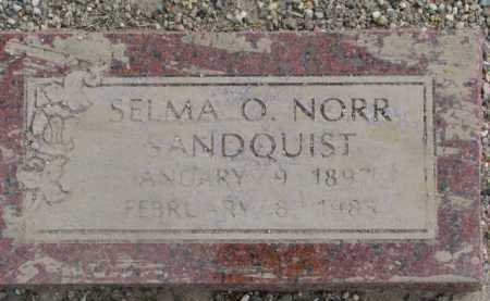 NORR SANDQUIST, SELMA O. - Dixon County, Nebraska   SELMA O. NORR SANDQUIST - Nebraska Gravestone Photos